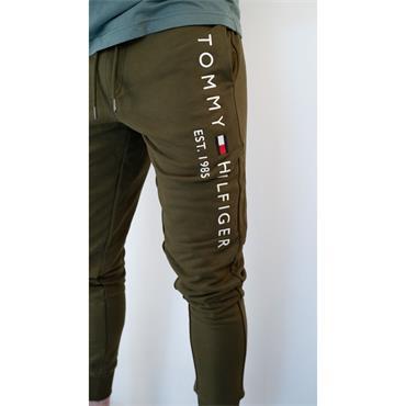 Basic Branded Sweatpants - OLIVE