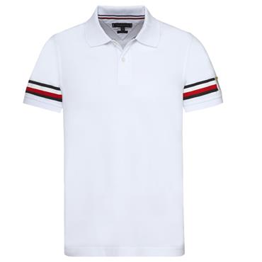 ICON STRIPE  SLIM  POLO  HILFIGER - BRIGHT WHITE