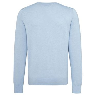 COTTON SILK CREW-NK JUMPER HILFIGER - CHAMBRAY