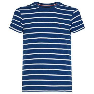 STRETCH SLIM FIT  TEE    HILFIGER - Blue White