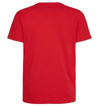 ICON WOVEN RELAX FIT  TEE    HILFIGER - 611RED