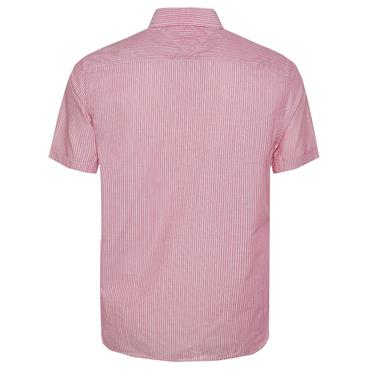 SLIM CO/LI FINE STRIPE SHIRT  HILFIGER - 902 ROSE
