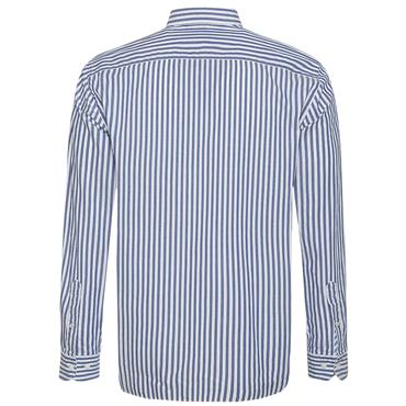 OXFORD ORGANIC STRIPE SHIRT  HILFIGER - 905 Blue White