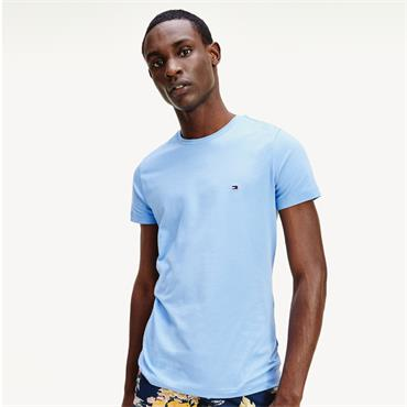Tommy Hilfiger Slim Stretch Tee - Bluebell