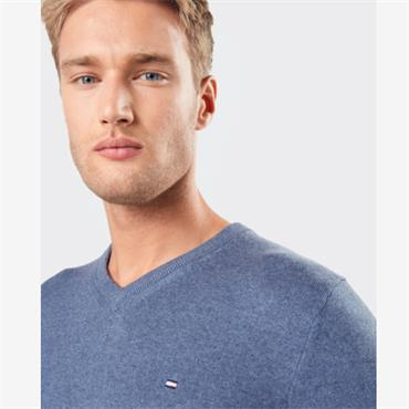 Pima Cotton Cashmere Jumper - Navy