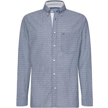 Tommy Hilfiger Pop Dobby Check Shirt - BLUE