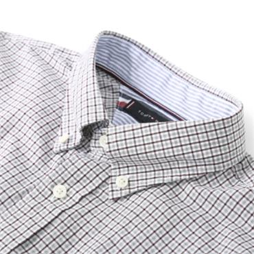 Tommy Hilfiger Twill Check Shirt - WINE