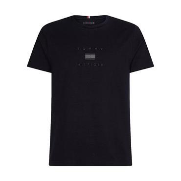 Tonal Tommy Flag T-Shirt - Navy