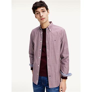 Tommy Hilfiger Soft Stripe Shirt - WINE
