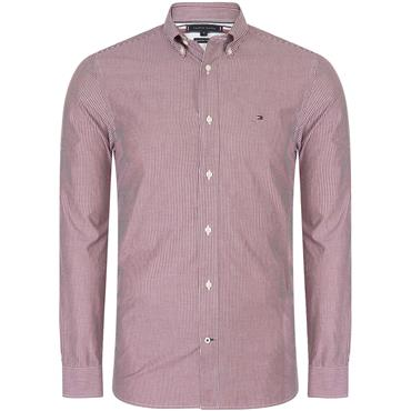 Tommy Hilfiger Soft Stripe Shirt - WINE