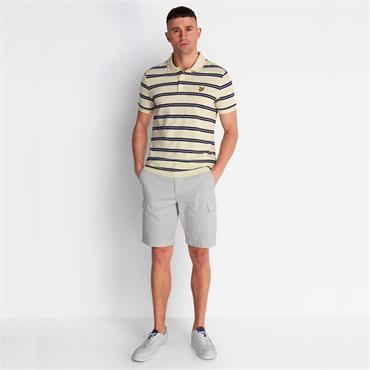 Lyle & Scott Wide Double Stripe Polo - Buttercream