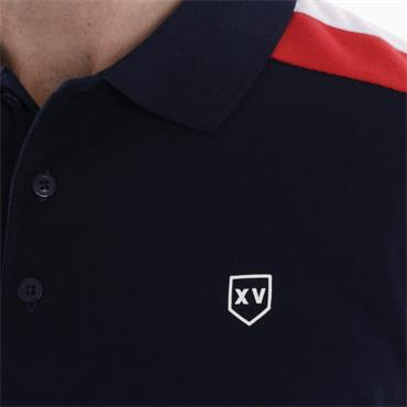 Xv Kings Stripe Shoulder Polo - Navy