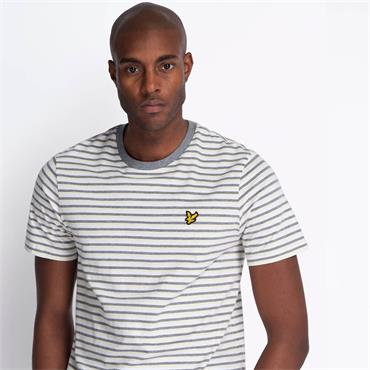 Lyle & Scott Stripe Ringer Tee - Buttercream