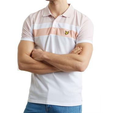Colour Block Polo Shirt - WHITE