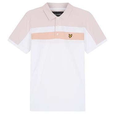 Colour Block Polo Shirt - WHITE