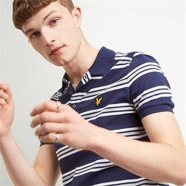 Multi Stripe Polo Shirt - Navy