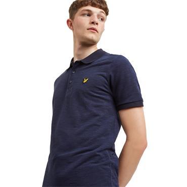 Space Dye Polo Shirt - Navy