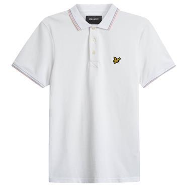 Tipped Polo Shirt - WHITE