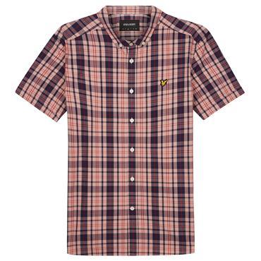Ss Check Shirt - CORAL