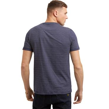 Fine Stripe T-Shirt - Navy