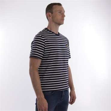 Breton Stripe T-Shirt - Navy Snow White