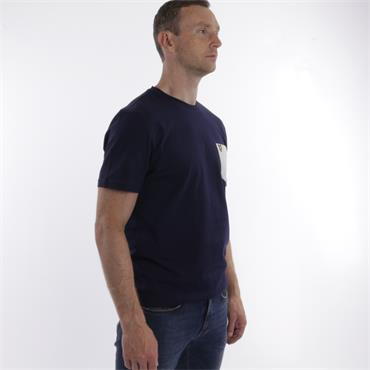 Contrast Pocket T Shirt - Navy
