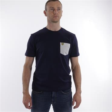 Contrast Pocket T Shirt - Navy