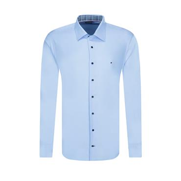 Tommy Hilfiger Slim Cotton Shirt - BLUE
