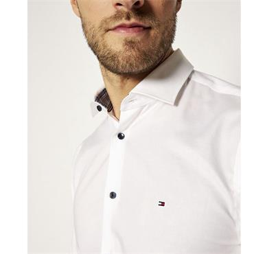 Tommy Hilfiger Slim Cotton Shirt - WHITE
