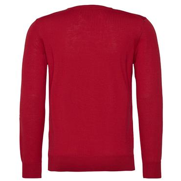 LUXURY WOOL C/NECK JUMPER T/H TAILORED - 652RED