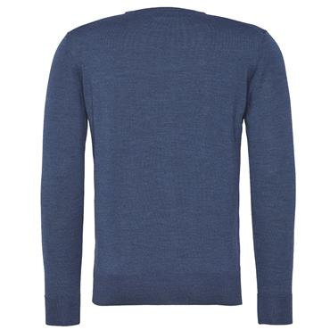 LUXURY WOOL C/NECK JUMPER T/H TAILORED - DENIM 25