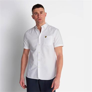 Lyle & Scott Oxford Short Sleeve - WHITE