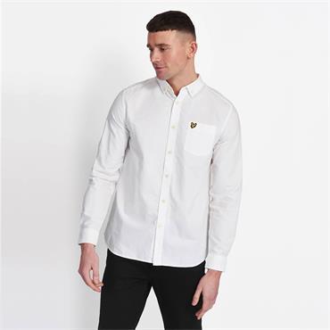 Lyle & Scott Oxford Shirt - WHITE