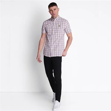 Lyle & Scott Short Sleeve Check - Straberry Cream