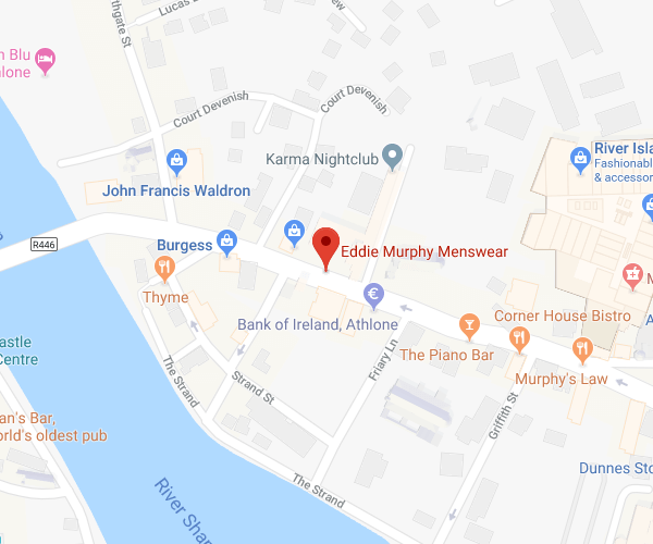 Eddie Murphy Menswear Athlone location map