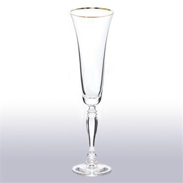 Gold Rim Champagne Glass 18cl/6.3oz (36 glasses)
