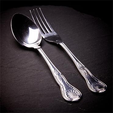 """Serving Spoons  8""""Kings Pattern"""