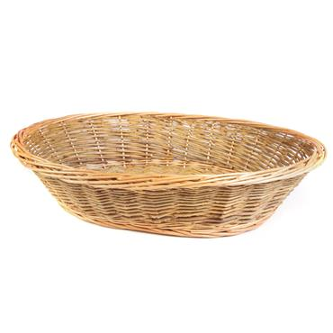 "Buffet Bread Basket Wicker 24""x13"""