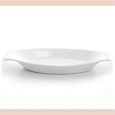 "Oval Serving  Dish 14""X 7"" With Lugs"