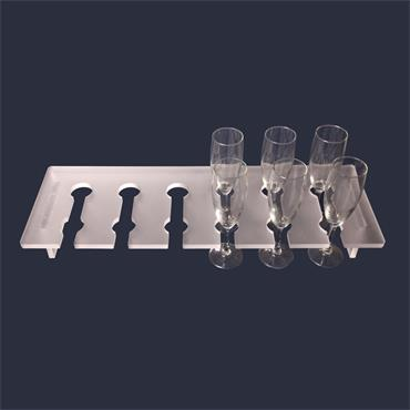 Glass Holder Frosted (holds 12)