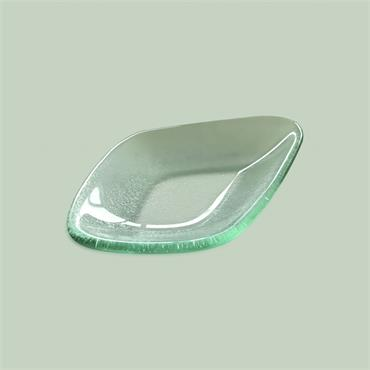 Mini Meal Glass quadrant 17cm (l) 11cm (w) 2cm (d)