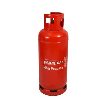 Gas Cylinder 75lb Propane red