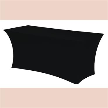 Spandex for *6x30* rectangular Table - BLACK