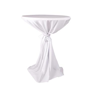 Classic White Full Length Pod Linen (Price not inclusive of high table)