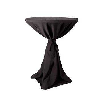 Classic Black Full Length Pod Linen (Price not inclusive of high table)