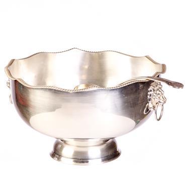 Silver Punch Bowl & Ladle 22 pints.