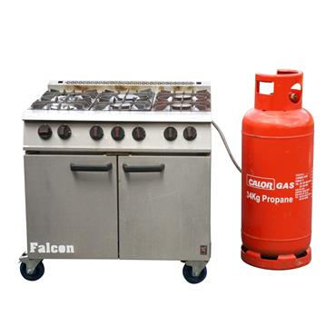 Cooker  Gas 6 Ring(requires large red propane cylinder)