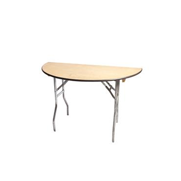 Half 4 ft Round Table