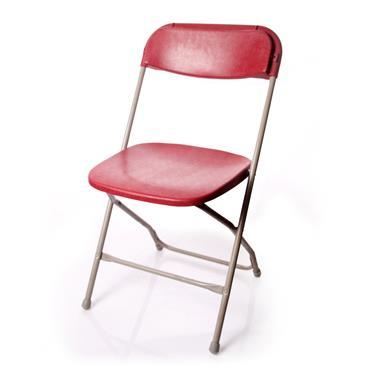 Folding Chair Burgundy