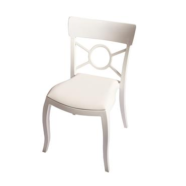 Milano Chair White (Leather Pad)